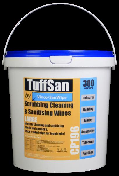 TUFFSAN by Vinco-SanWipe Scrubbing & Cleaning Wipe 6x80Wipe